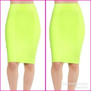 Skirts Clothing, Shoes & Accessories Organic Cotton Op Art Mod Print Neon Green Black High Low Wrap Hem Skirt Nwt L